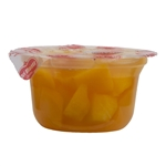 Diced Peaches In Extra Light Syrup Plastic Cup - 4.4 Oz.