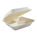 Large 3-Section Hinged Lid Containers - 9 in. x 9 in. x 3.19 in.