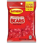 Sathers 2 for Dollar 2 Cinnamon Bears Candy - 4.25 oz.