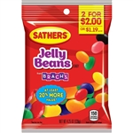 Sathers 2 for Dollar 2 Jelly Beans Candy - 4.25 oz.