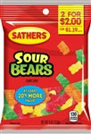 Sathers 2 for Dollar 2 Sour Gummi Bears - 4 oz.