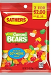 Sathers 2 For Dollar 2 Mini Gummi Bears - 3.5 oz.