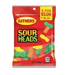 Sathers 2 For Dollar 2 Sour Heads - 3.5 oz.