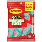 Sathers 2 For Dollar 2 Sour Watermelon Slices - 3.5 oz.