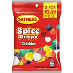 Sathers 2 For Dollar 2 Spice Drops Candy - 5 oz.