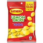 Sathers 2 For Dollar 2 Lemon Drops Candy - 3.6 oz.