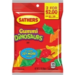 Sathers 2 For Dollar 2 Gummi Dinosaurs - 3.2 oz.