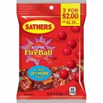 Sathers 2 For Dollar 2 Atomic Fireballs Candy - 2.6 oz.