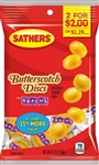 Sathers 2 For Dollar 2 Butterscotch Disc Candy - 4.2 oz.