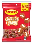 Sathers 2 For Dollar 2 Caramel Creams - 2.5 oz.