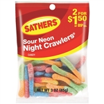 Sathers Sour Neon Nite Crawlers - 3 oz.