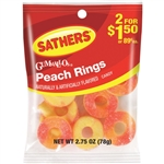 Sathers Peach Rings Candy - 2.75 oz.