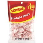 Sathers 2 For Dollar 1.50 Starlight Mints Candy - 3.6 oz.