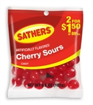 Sathers 2 For Dollar 1.50 Cherry Sours - 3.6 oz.