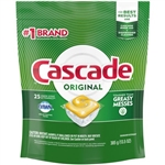 Cascade Dishwashing Powder And Liquid Lemon Scent - 13.5 Oz.