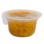 Delmonte Diced Yellow Cling Peaches In 100 Percent Juice Plastic Cup - 4.4 Oz.