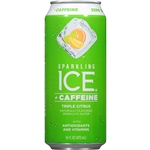 Sparkling Ice +Caffeine Triple Citrus with Antioxidants and Vitamins - 16 Fl. Oz.