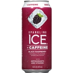 Sparkling Ice +Caffeine Black Raspberry with Antioxidants and Vitamins - 16 Fl. Oz.