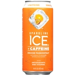 Sparkling Ice +Caffeine Orange Passionfruit with Antioxidants and Vitamins - 16 Fl. Oz.