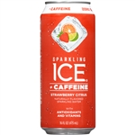 Sparkling Ice +Caffeine Strawberry Citrus with Antioxidants and Vitamins - 16 Fl. Oz.