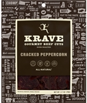 Krave Cracked Peppercorn Gourmet Beef Cuts - 2.7 oz.