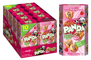 Meiji Hello Panda Strawberry Creme Caddies - 2.1 Oz.