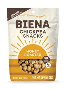 Biena Snacks Honey Roasted Chickpeas - 5 oz.
