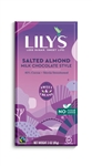 Lilys Sweets 40 Percent Chocolate Salted Almond and Milk Bar - 3 Oz.