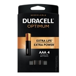 Duracell Alkaline Optima AAA 4 Battery