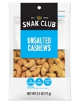 Century Snacks Unsalted Cashews - 2.5 Oz.