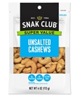 Super Value Unsalted Cashews - 4 Oz.