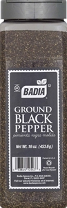 Badia Ground Black Pepper - 16 Oz.