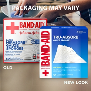 Band Aid Tru-Absorb 50 Count - 4 in. x 4 in.
