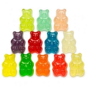12 Flavor Assorted Gummi Bears Bulk - 5 Lb.