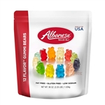Albanese Worlds Best 12 Flavor Gummi Bears - 36 Oz.