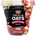 Delmonte Fruit and Oats Strawberry Apple Fruit Cup - 7 Oz.