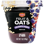 Delmonte Fruit and Oats Blueberry Apple Fruit Cup - 7 Oz.