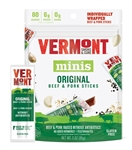 Vermont Smoke and Cure Go-Pack Original Beef and Pork Mini Meat Stick - 3 Oz.
