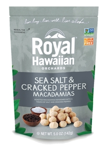 Royal Hawaiian Orchards Sea Salt and Cracked Pepper Macadamia Nut - 4 oz.