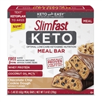 SlimFast Keto Meal Chocolate Chip Cookie Dough Replacement Bar