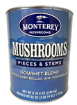 Gourmet Blend Mushroom Pieces and Stems - 100 Oz.