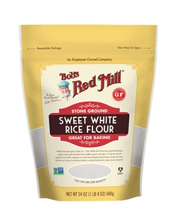 Bobs Red Mill Sweet White Rice Flour - 24 Oz.
