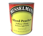 Musselmans Sliced Peaches Yellow Clings In Extra Light Syrup - 106 Oz.