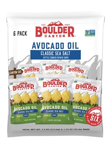 Boulder Canyon Cut Avocado Oil Sea Salt Potato Chips - 7.5 oz.