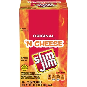 Slim Jim Original Beef Snack Stick N Cheese - 1.15 Oz.