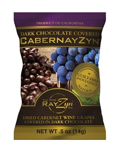 Cabernayzyn Dried Cabernet Wine Grapes Covered in Dark Chocolate - 0.5 Oz.