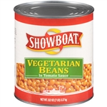 Showboat Vegetarian Beans In Tomato Sauce - 112 oz.