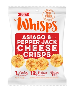 Asiago Pepper Jack Cheese Crisps - 1 Oz.