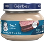 Gerber 2nd Foods Beef and Gravy Glass Jar - 2.5 Oz.