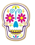 Day of the Dead Skull Decorated Printed Cookies - 2.5 Oz.